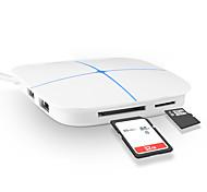 6 Puertos Hub USB USB 2.0 Con lector de tarjetas (s) Hub de datos