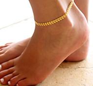 Недорогие -Жен. Ножной браслет / Браслеты Сплав Мода Ножной браслет В форме листа Бижутерия Назначение Повседневные