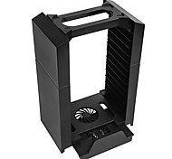 Multi-function Vertical Console Support Stand Cooling Fan with Game Storage for PS4 PS3 move