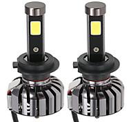 KKmoon Pair of H7 DC 12V 40W 4000LM 6000K LED Headlight Lamp Kit Light Bulbs