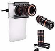 Универсальный hd 8x регулируемый фокус оптический телескоп объектив камеры мобильного телефона с зажимом, подходящим для телефонов iphone