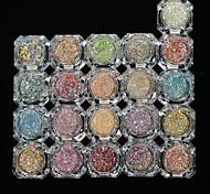 26bottles/set 0.2g/bottle Fashion Galaxy Starry Effect Colorful Gorgeous Nail Art Platinum Glitter Power DIY Shining Decoration BG01-26