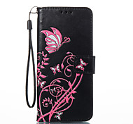 cheap -Case For Samsung Galaxy S8 Plus S8 Card Holder Wallet with Stand Flip Magnetic Pattern Embossed Full Body Cases Butterfly Hard PU Leather
