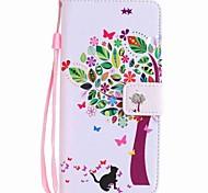 Недорогие -Кейс для Назначение Motorola Бумажник для карт Кошелек со стендом Флип С узором Чехол дерево Твердый Кожа PU для Мото G5 Plus Moto G5