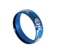 cheap -Men's Stainless Steel Ring - Round Basic Dark Blue Ring For Party / Birthday / Event / Party