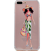 for iPhone 7 Plus 7 Case Cover Ultra-thin Transparent Pattern Back Cover Case Summer Fashion Girl Soft TPU for 6s Plus  6 plus 6 SE 5S 5