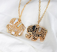 cheap -Women's Animal Shape Dangling Style Pendant Necklace Rhinestone Alloy Pendant Necklace Christmas Gifts Wedding Party Special Occasion