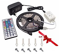 Led Strip Lights Kit 5050 5M 150leds RGB 30leds/m with 44key Ir Controller and 3A  Power Supply  and Gift 5PCS Mounting Bracket