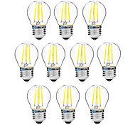 Недорогие -BRELONG® 10 шт. 4 Вт. 300 lm E27 LED лампы накаливания G45 4 светодиоды COB Диммируемая Тёплый белый Белый AC 200-240 V
