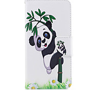 For iPhone 7Plus 7 Phone Case PU Leather Material Panda Bamboo Pattern Painted Phone Case 6s Plus 6Plus 6S 6 SE 5s 5