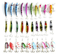 30Pcs/lot Fishing Lure Kits Hard ARTIFICIAL LURES MINNOW METAL LURES FISHING Set Japan Steel Balls  Blade Fish Bait Cheap Tackle