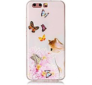 For HUAWEI P10 P10 Plus Embossed Butterfly Cat Pattern High Quality TPU Soft Phone Case P10 Lite P9 P9 Lite Y5 II Mate 9 P8 Lite 2017