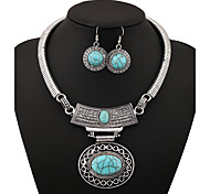 Women's Jewelry Set Vintage Alloy Oval 147 Party Daily 1 Set Wedding Gifts