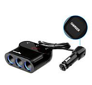 Rocketek car-charger 2 USB Smart IC 3.1A car charger 3 Sockets Cigarette Lighter Adapter Splitter for Meter measuring car volt CC32