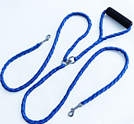 Pet Traction Rope Hand Woven Rope Handle Double Headed High-Quality Dog Rope Winding Preventing Double Traction