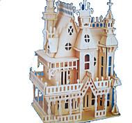 Недорогие -3D пазлы Пазлы Модель дерева Наборы для моделирования Прямоугольный Замок Знаменитое здание Архитектура 3D Дерево Натуральное дерево Все