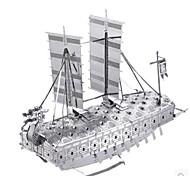 Недорогие -3D пазлы Пазлы Металлические пазлы Наборы для моделирования Игрушки Военные корабли Корабль 3D Своими руками моделирование Алюминий Металл