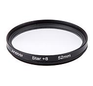 Andoer filtro de filtro de 52mm uv cpl star kit de filtro de 8 puntos con funda para Canon nikon sony dslr lente de la cámara