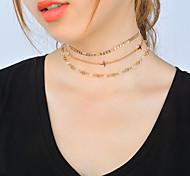 Жен. Ожерелья-бархатки На заказ Мода Multi-Wear способы Euramerican На каждый день Повседневные Одежда для отдыха на природе Хрусталь