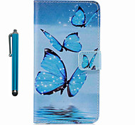 cheap -For Case Cover Pattern Full Body Case With Stylus Butterfly Hard PU Leather for Apple ipod Touch 5 Touch 6