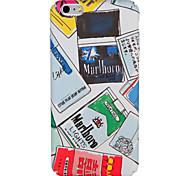 Caso per la mela iphone 7 plus 7 copertura posteriore del caso della copertura caso parola / frase pc hard iphone 6s più 6 plus
