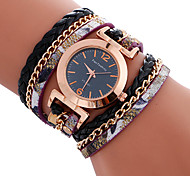 Women's Ladies' Bracelet Watch Unique Creative Watch Casual Watch Sport Watch Fashion Watch Quartz Leather Band Charm Luxury Creative