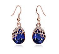 cheap -Women's Earrings Set Crystal AAA Cubic ZirconiaBasic Unique Design Dangling Style Rhinestone Heart Natural Geometric Friendship Turkish