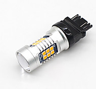 abordables -SO.K 2pcs BAU15S / 3157 / 3156 Coche Bombillas 7W SMD 3030 800lm Luz de la cola For Universal