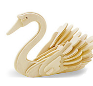 cheap -3D Puzzles Jigsaw Puzzle Wood Model Dinosaur Plane / Aircraft Swan Animal 3D DIY Wooden Wood Classic Kid's Unisex Gift
