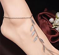 Недорогие -В форме листа Украшения на ноги - Жен. Серебряный Мода Ножной браслет Назначение Повседневные / Одежда для отдыха на природе