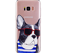 Caso para la galaxia s8 de Samsung más las gafas de sol del verano s8 persiguen la caja material del teléfono del tpu material suave para