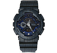Men's Sport Watch Digital Watch Japanese Quartz Digital Alarm Water Resistant / Water Proof Dual Time Zones Rubber Band Casual Cool Blue