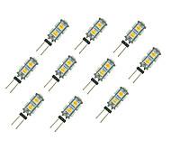 cheap -10pcs 1.5W 85 lm G4 LED Bi-pin Lights 9 leds SMD 5050 Warm White White DC 12V