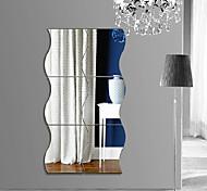 Недорогие -Геометрия абстракция 3D Наклейки Простые наклейки 3D наклейки Зеркальные стикеры Декоративные наклейки на стены 3D,Акрил Украшение дома