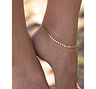 Недорогие -Жен. Ножной браслет Медь Железо Мода Украшения на ноги Золотой Бижутерия Назначение На каждый день Повседневные