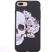 For iPhone 8 iPhone 8 Plus Case Cover Frosted Pattern Back Cover Case Skull Soft TPU for Apple iPhone 8 Plus iPhone 8 iPhone 7 Plus
