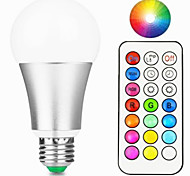 12W E27 Lampadine LED smart A60(A19) 15 leds Illuminazione LED integrata Oscurabile Controllo a distanza Decorativo Bianco caldo Colori