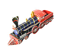 cheap -Toy Cars 3D Puzzles Jigsaw Puzzle Train 3D DIY High Quality Paper Classic Train Boys' Unisex Gift