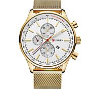 Муж. Нарядные часы Модные часы Японский Кварцевый Нержавеющая сталь Группа Повседневная Черный Серебристый металл