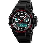 Недорогие -Смарт-часы Защита от влаги Длительное время ожидания Спорт Многофункциональный Секундомер будильник Календарь С двумя часовыми поясами