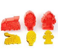 2017 New Arrival Set of 3 Fire Control Symbols Cake Molds Fire Truck Extinguisher Cookie/Biscuit Cutter for Fondant Cake Decorating
