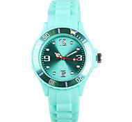 Недорогие -Жен. Модные часы Японский Кварцевый / силиконовый Группа Повседневная Зеленый
