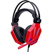 cheap -soyto SY850MV-R Headband Wired Headphones Dynamic Plastic Gaming Earphone with Volume Control with Microphone Stereo Headset