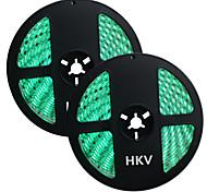 HKV® 1PCS 10M(2x5M) 72W 300LED 5050SMD Waterproof Normal Brightness Flexible LED Light Bar Strip (DC 12V)