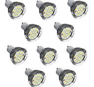 10pcs 5w привело прожектор gu10 16 smd5730 теплый / холодный белый декоративный светодиодный фонарь ac220v