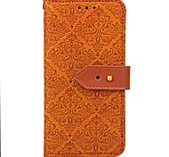 Estojo para xiaomi redmi note 4 / 4x capa capa carteira carteira com suporte flip em relevo padrão caixa de corpo inteiro flor duro pu