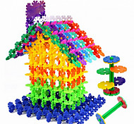 Approx 300PCS 3cm Interlocking Assembly Snowflake Building Blocks DIY Early Educational Construction Toys Set Kid Model Designer Jigsaw Toys Kit