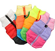 Cat Dog Coat Shirt / T-Shirt Sweatshirt Vest Dog Clothes Party Casual/Daily Keep Warm Sports Color Block Blue Green Fuchsia Black