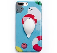 For Case Cover Pattern DIY Squishy Back Cover Case Cartoon Soft TPU for Apple iPhone 7 Plus iPhone 7 iPhone 6 Plus iPhone 6s iPhone 6