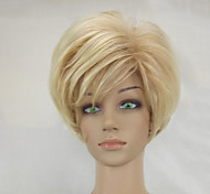 cheap -Synthetic Wig Straight Layered Haircut Blonde Women's Capless Natural Wigs Short Synthetic Hair